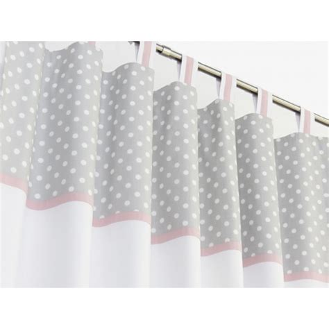 polka dot blackout curtains grey polka dot and pink nursery curtains