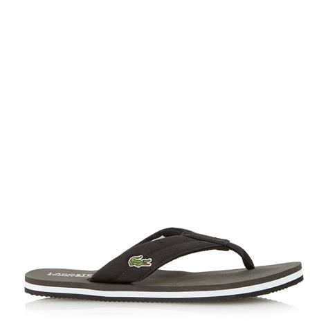 lacoste slop casual pria lyst lacoste randle slip on casual sandals in black for