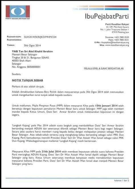 krisis mb selangor enggan letak jawatan khalid diberi surat tunjuk