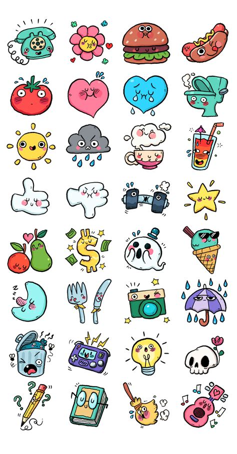 doodle chat chat app stickers on behance characters