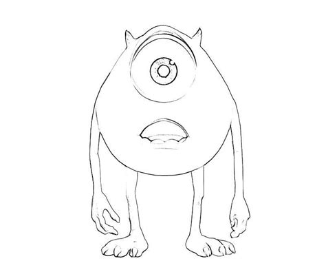 baby mike wazowski coloring pages coloring home