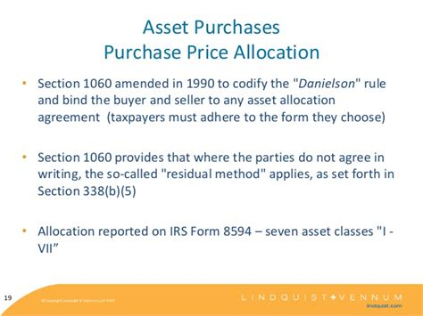 irs section 1060 kaiser corp tax update 2013