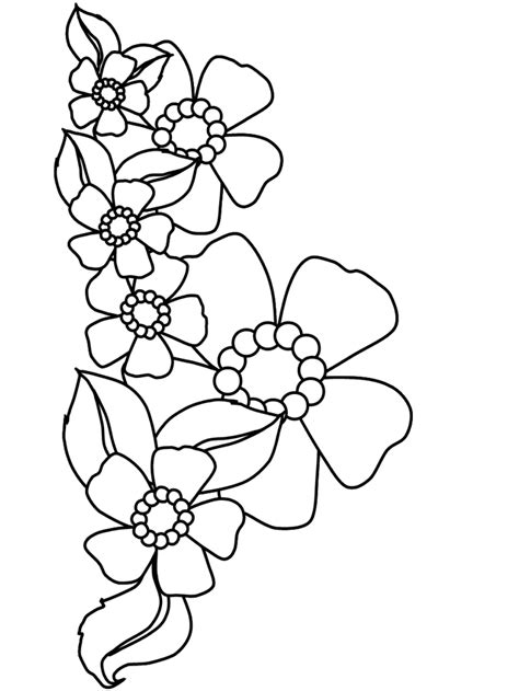 Cartoon Flowers Coloring Pages 110 Free Printable Coloring For Free L