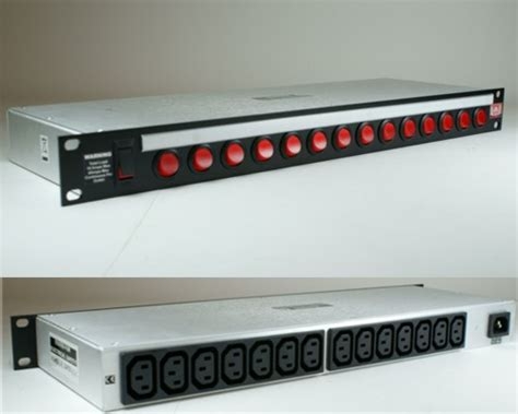 19 quot rack mount power distribution unit switched 14 way