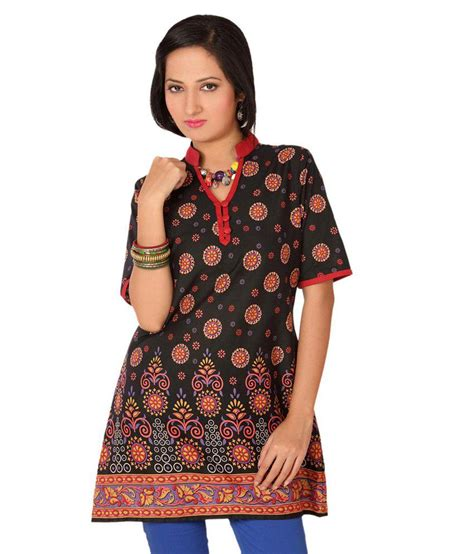 N1 Tenun Blouse Tunic buy enah black cotton tunics at best prices in india snapdeal