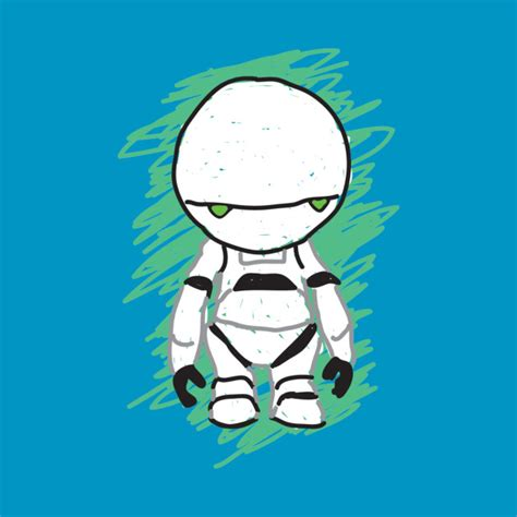 T Shirt Paranoid Android marvin the paranoid android t shirt teepublic