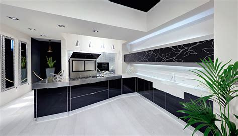 sleek kitchen design ultra glossy and sleek kitchen design crystallo from