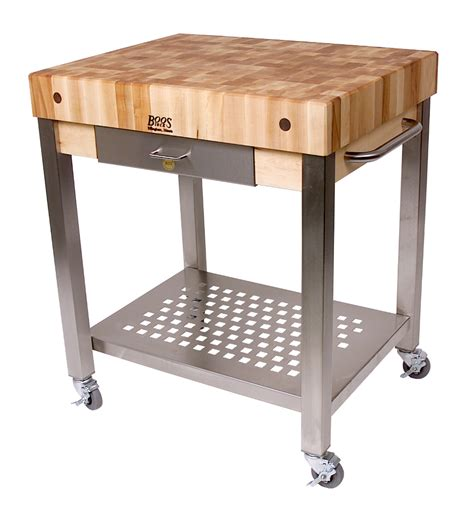 Wheels For Kitchen Island by John Boos Butcher Block Kitchen Carts