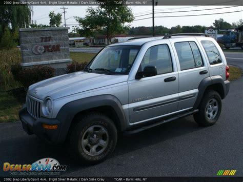 jeep sport 2002 2002 jeep liberty sport 4x4 bright silver metallic