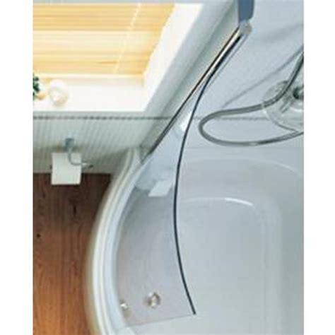 Curved Shower Door Parts Sottini Alchemy Offset Corner Bath Curved Bath Shower Screen Clear Glass Spare Parts E6953aa
