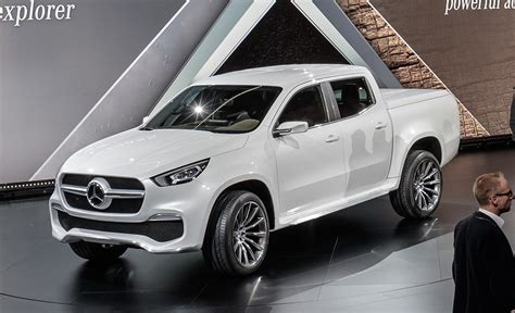 mercedes pickup mercedes benz hops into beds with new x class pickup truck