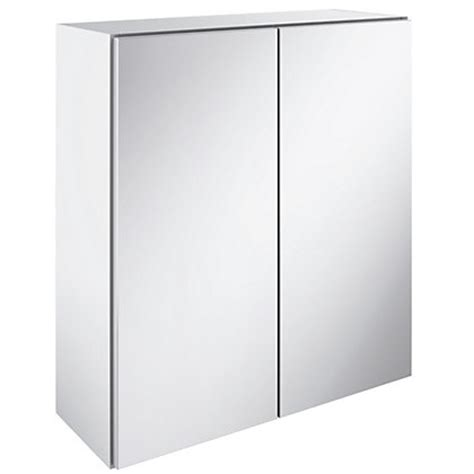 winchester mirrored bathroom cabinet white