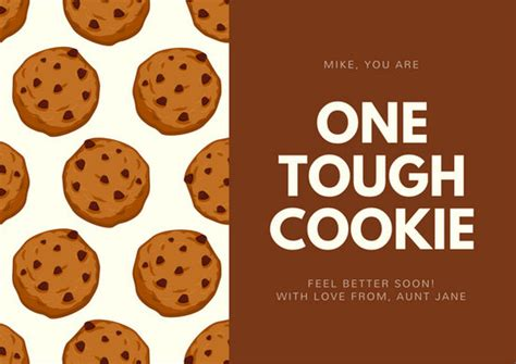cookie pattern get well soon card templates by canva