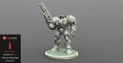 figure 3d printer model starcraft terran marine 3d model stl files and