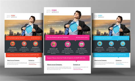 marketing flyer template flyer templates on creative market
