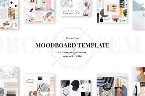 Mood Board Templates Web Elements Creative Market Free Moodboard Template Illustrator
