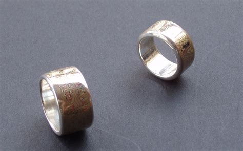 pattern welding ring pattern welded and mokume jewelry show and tell