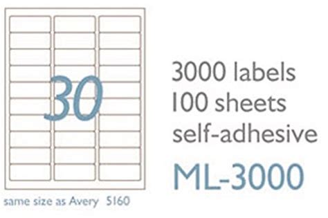 Maco Ml3000 White Laser Inkjet Shipping Address Labels 1 X 2 5 8 Box Of 3000 Ml 3000 Label Template