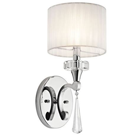 One Light Wall Sconce Point Chrome One Light Wall Sconce Kichler 1 Light Armed Candl