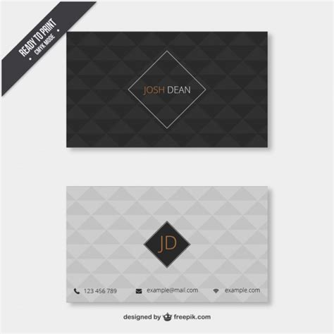 Pattern Of Business Card | business card with geometrical pattern vector free download