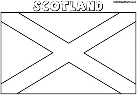 Awesome More From Site States Flags Coloring Pages With Scotland Flag Coloring Page