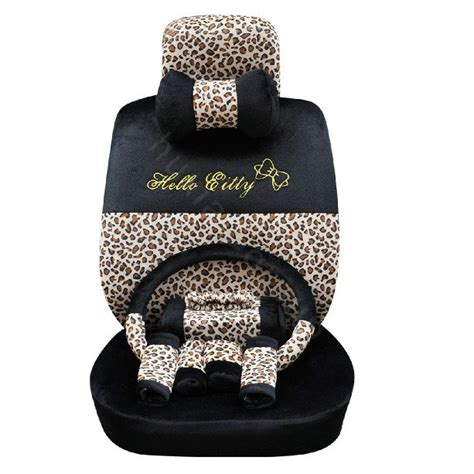 plush seat covers buy wholesale oulilai hello leopard car front rear