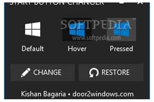 start button name change software free download