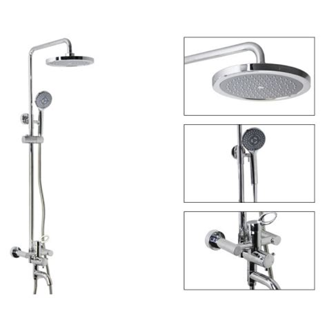 Shower Mount by Chrome Wall Mount Shower Suit With Handshower And Shower