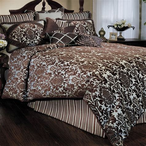 blue damask bedding beautiful blue and brown bedding for the home