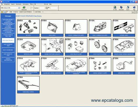 Sparepart Mazda 2 mazda usa 2009 proquest spare parts catalogue