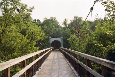 swinging bridge park bridgemeister glen park swinging bridge