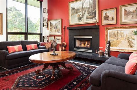 Black And White Ikat Rug Red Living Rooms Design Ideas Decorations Photos