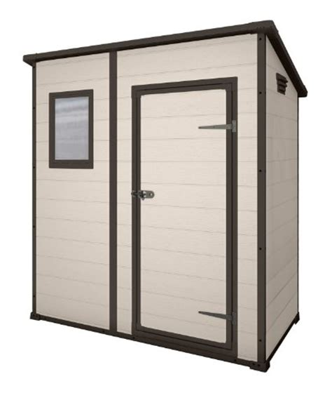 keter manor pent outdoor plastic garden storage shed 6 x