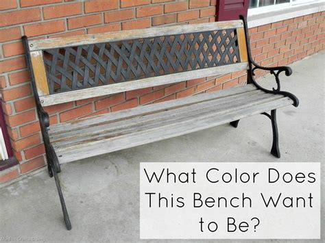 what should i bench what color does this bench want to be