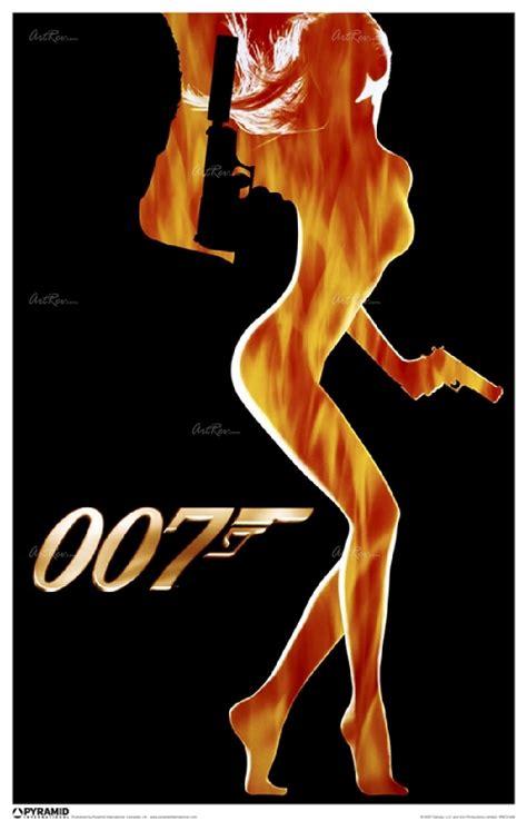 film james bond series independent artist james bond flame girl fine art print