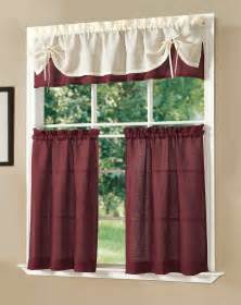 Fancy Kitchen Curtains Dainty Home Solid Decorative Kitchen Curtain Set By Dainty Home Ebay