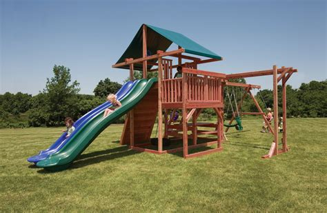 cheap wooden swing sets with free shipping main attraction backyard play set with monkey bars slides