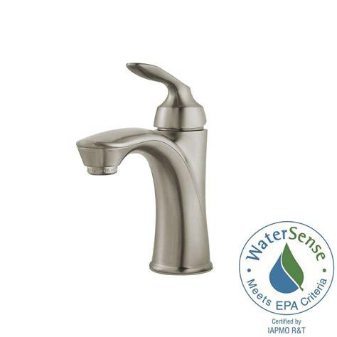 shop pfister selia brushed nickel 1 handle single hole pfister avalon single hole single handle bathroom faucet