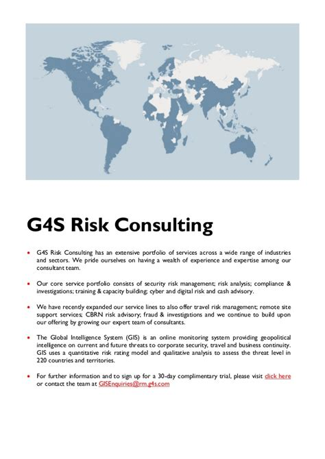Risk Consultant by Global Forecast Q3 By G4s Risk Consulting