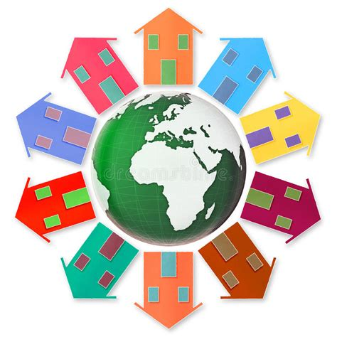 global houses global village concept ten small houses around the earth