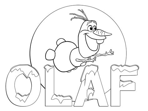 olaf frozen coloring book
