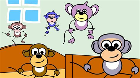 five little monkeys jumping on the bed youtube five little monkeys nursery rhymes popular nursery