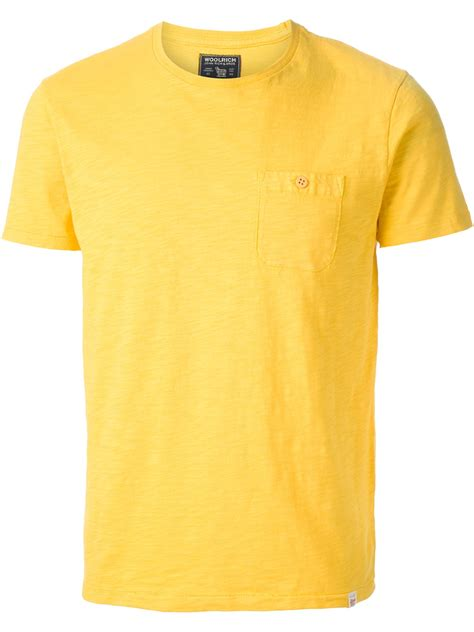 Tshirt Yellow lyst woolrich redwood tshirt in yellow for