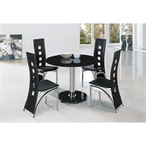 Black Glass Dining Table And 4 Chairs Jet Small Black Glass Dining Table And 4 Black Dining Chairs