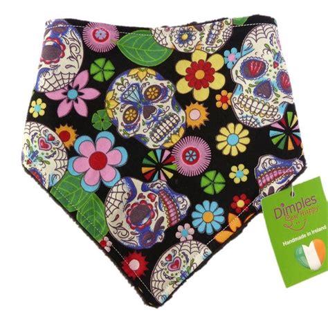 Handmade Bandanas - dimples bandana black mexican skulls handmade for