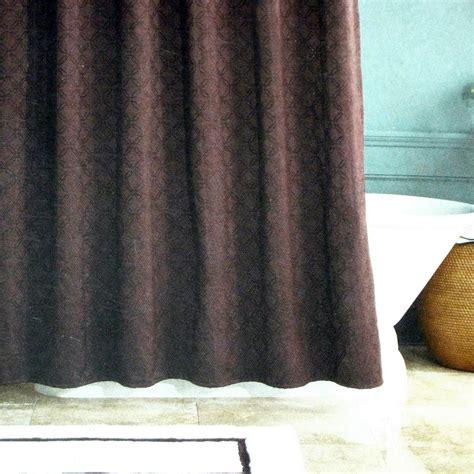 fieldcrest shower curtain fieldcrest luxury signature brown jacquard lined fabric