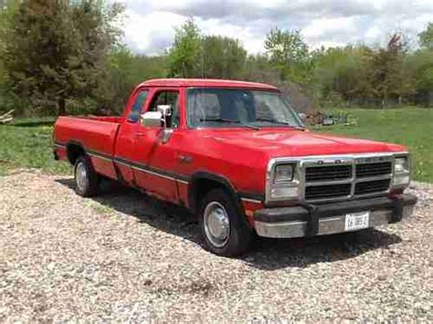 how to learn about cars 1993 dodge d250 club parking system sell used 1993 dodge d250 base extended cab pickup 2 door 5 9l 359cu in l6 diesel ohv in