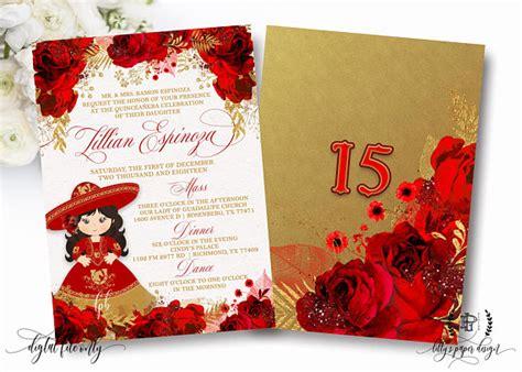 mexican invitations quinceanera lace invitaciones de fiesta quincea 241 era invite charro quincea 241 era birthday