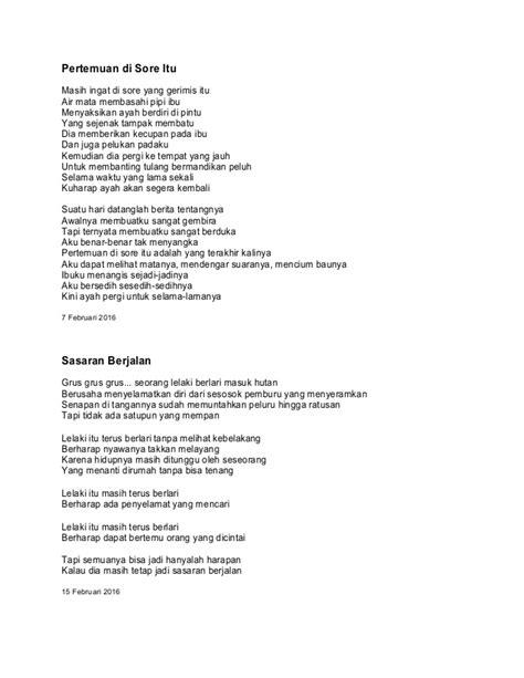 membuat puisi syair kumpulan pantun puisi dan syair oleh fajar sany edisi