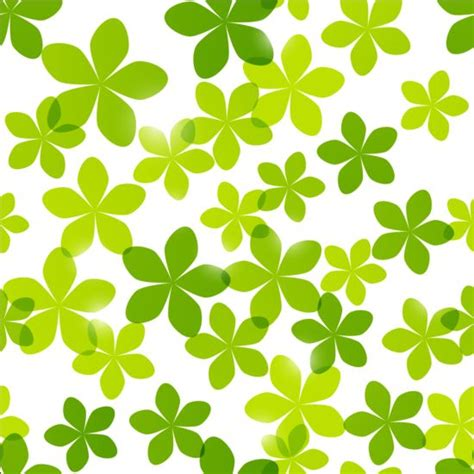 flower pattern green seamless pattern with green flowers vector 01 vector